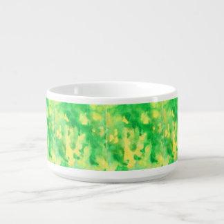 Tigela De Sopa Bacia do pimentão da aguarela do verde amarelo