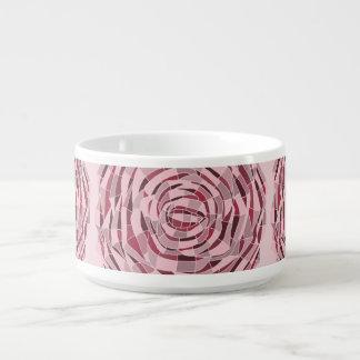 Tigela de Sopa Vitral Rosa