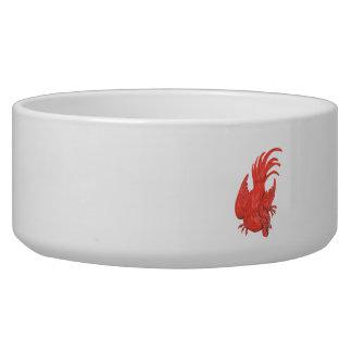 Tigela Desenho de agachamento do galo da galinha