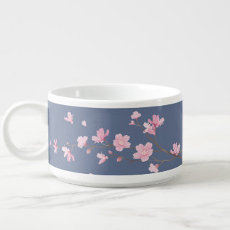 Tigela Flor de cerejeira - sarja de Nimes