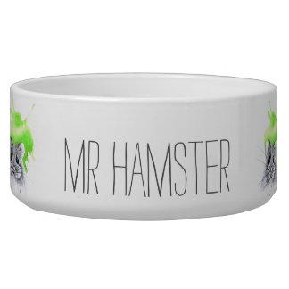 Tigela Nome feito sob encomenda do Sr. Hamster |