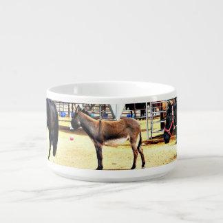 Tigela Quatro cavalos e uma bacia do pimentão do asno