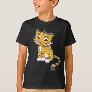 Tigre bonito da laranja de Kawaii Tshirts