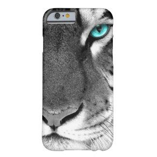 Tigre branco preto capa barely there para iPhone 6