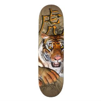 Tigre chinês shape de skate 20,6cm