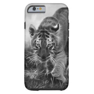 Tigre de bebê que desengaça em preto e branco capa para iPhone 6 tough