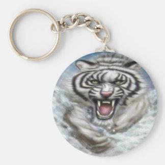 tigre de white Keychain, porta-chaves/ Chaveiro
