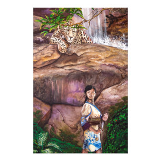 Tigre e morango do budista de zen papelaria