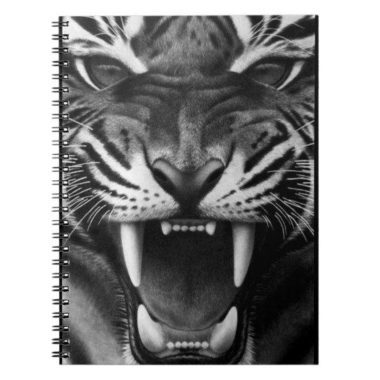 Tigre rujir caderno espiral