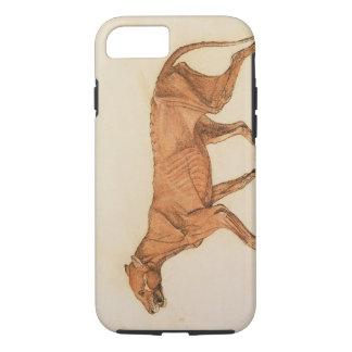 Tigre, vista lateral, pele removida, 'de um capa iPhone 8/7