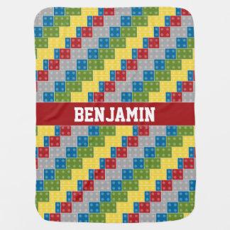 Tijolos coloridos do teste padrão do pop art para cobertorzinhos para bebe