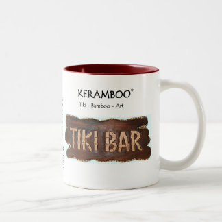 Tiki Coffee Mug/café copo Caneca Dois Tons