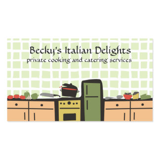 tile kitchen cooking tomato sauce business cards