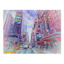 Times Square New York pelo Mac de Shawna Cartão Postal