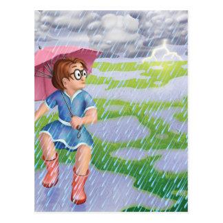 Tinir do tinir pouco cartão do dia chuvoso do