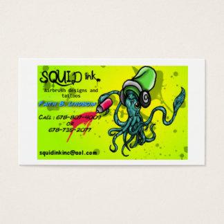Tinta do calamar cartão de visitas
