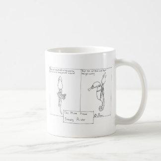 Tinta do calamar - homem do rio nevado caneca de café