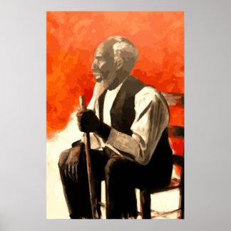 Tio do homem do afro-americano poster
