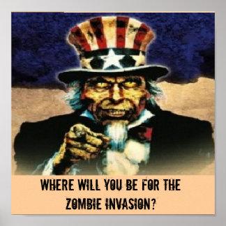 tio Sam, onde você estará para o zombi Inv… Pôster