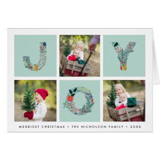 Cartão Tipo alegre cartão com fotos dobrado   do feriado