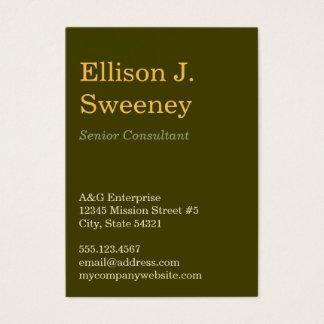 Tipo corajoso profissional cinzento design do cartão de visitas