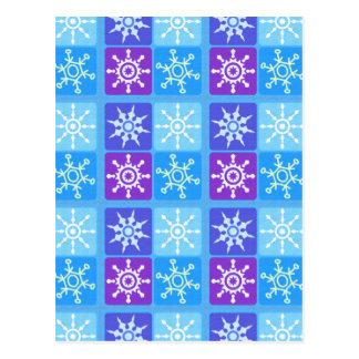 Tipo do floco de neve do inverno do dia cartao postal