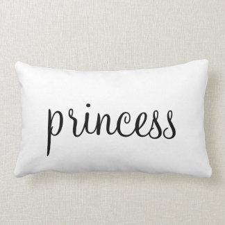Tipografia da princesa para seu travesseiro da dec