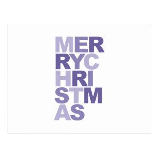 tipografia do Feliz Natal Cartões Postais