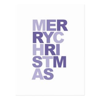 tipografia do Feliz Natal Cartão Postal
