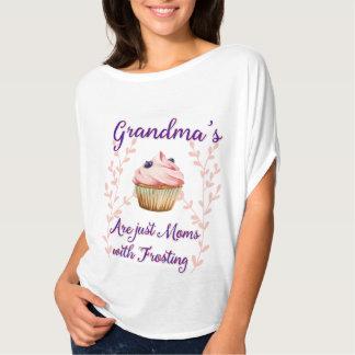 Tipografia do glacé da avó camisetas