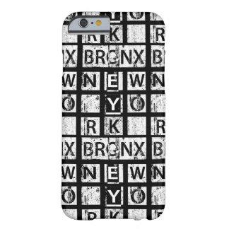 Tipografia do Grunge de Bronx New York | Capa Barely There Para iPhone 6