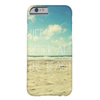 Tipografia do oceano do caso do iPhone 6 da praia Capa Barely There Para iPhone 6