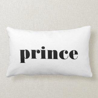Tipografia do príncipe para ele travesseiro da dec