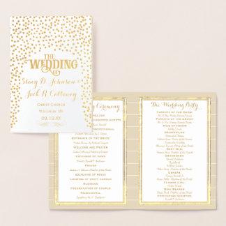 Tipografia dos confetes do PROGRAMA do CASAMENTO Cartão Metalizado