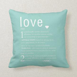 Tipografia dos namorados da definição de travesseiros de decoração