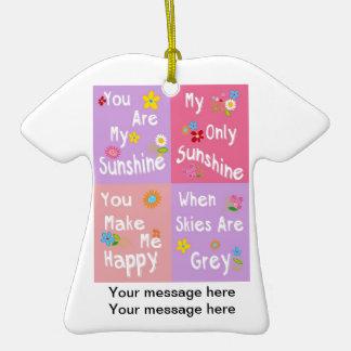 Tipografia inspirador da frase - colagem ornamento de cerâmica camiseta