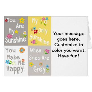 Tipografia inspirador das frases - colagem cartão comemorativo