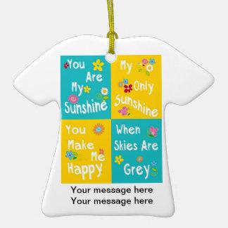 Tipografia inspirador das frases - colagem ornamento de cerâmica camiseta