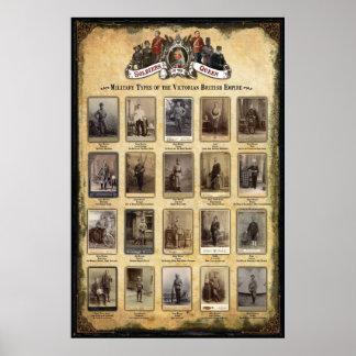 Tipos militares do Império Britânico do Victorian Pôster