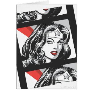 Tira do filme da mulher maravilha cartão comemorativo