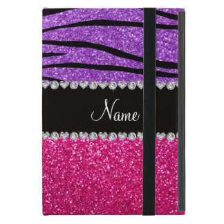 Tira roxa pastel da zebra do brilho cor-de-rosa iPad mini capa