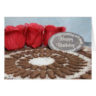 Tiramisu: Cartão do feliz aniversario