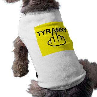 Tirania do mau da roupa do cão camiseta