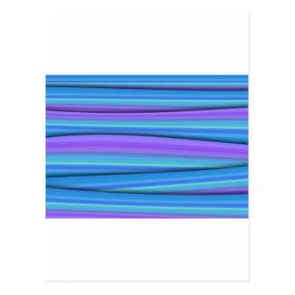Tiras azuis cartão postal