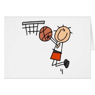 Tiro em suspensão do basquetebol - t-shirt e cartão