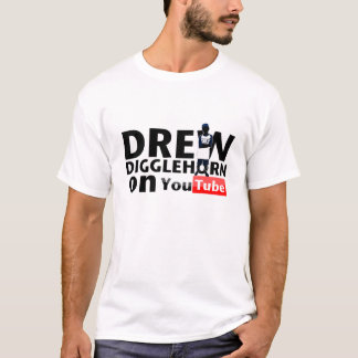 Tirou Digglehorn no t-shirt de YouTube