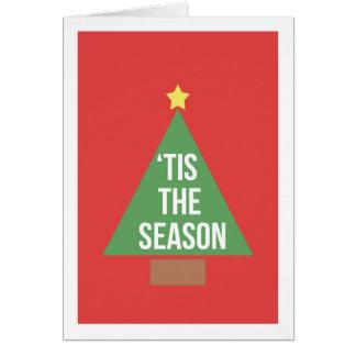 'Tis o cartão festivo da estação