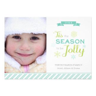 Tis o cartão liso do feriado da foto do Natal da e