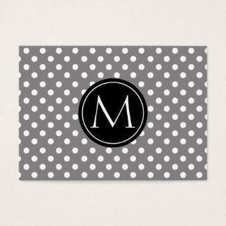 Titânio do monograma do teste padrão de bolinhas cartão de visitas