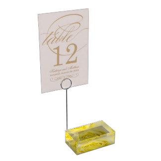 Titular do cartão da mesa do casamento do rosa suportes para cartões de mesas